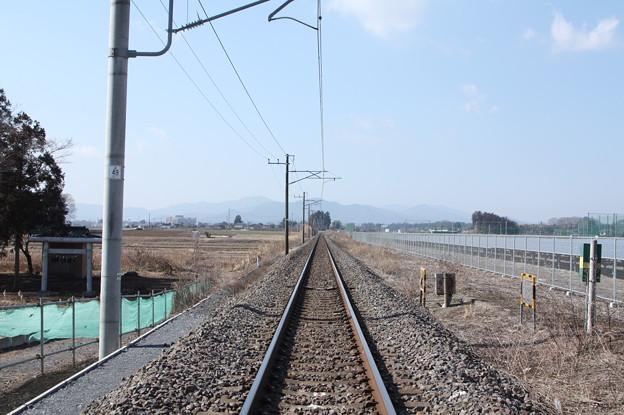 常磐線原坪踏切上りから線路を眺める (2)