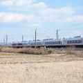 冬の田園風景を行くE657系 (3)