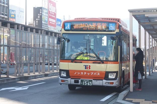 伊豆東海バス 新型エルガミオ 伊豆230あ1565 A81 MOA美術館 行