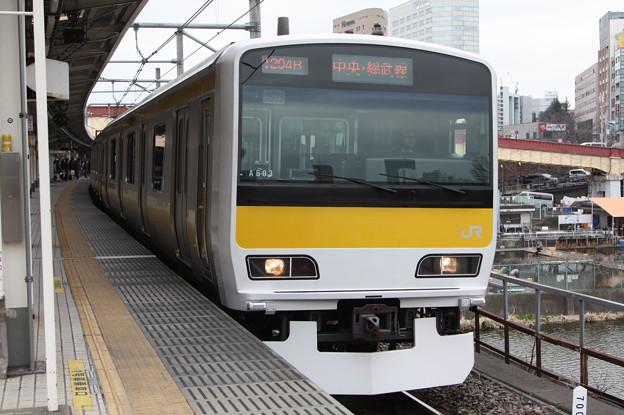 中央・総武緩行線 E231系500番台ミツA503編成
