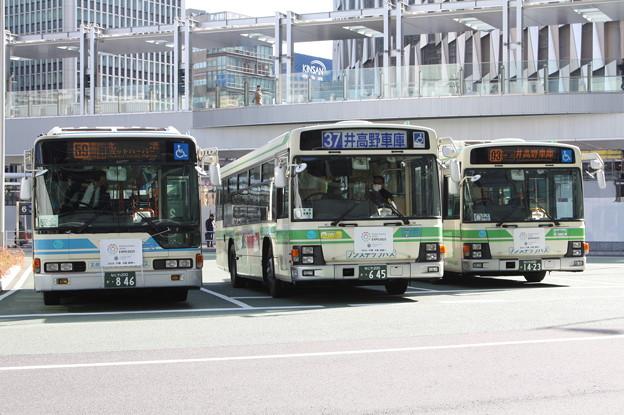 大阪市営バス 846号車・645号車・1423号車