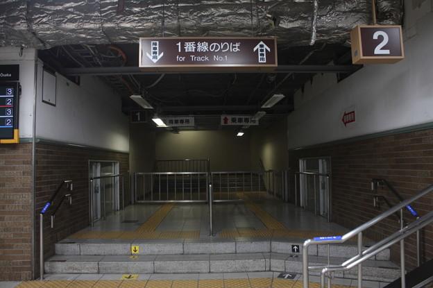 JR神戸線 神戸駅 1番のりば 通路
