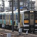 Photos: 水戸駅の電留線で待つ水郡線キハE130系