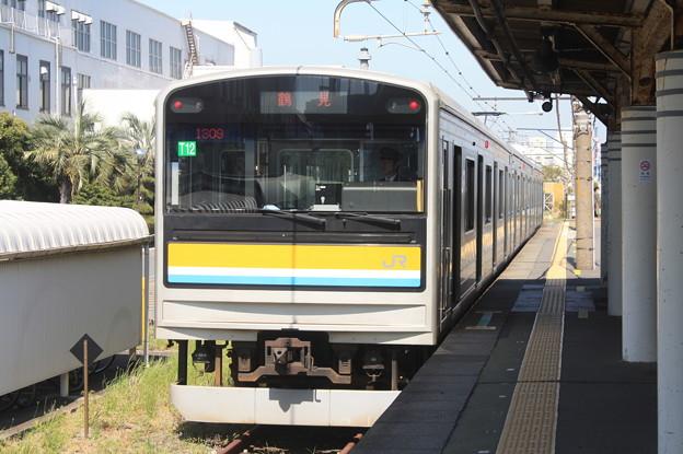 鶴見線 205系1100番台ナハT12編成 鶴見 行 海芝浦停車中