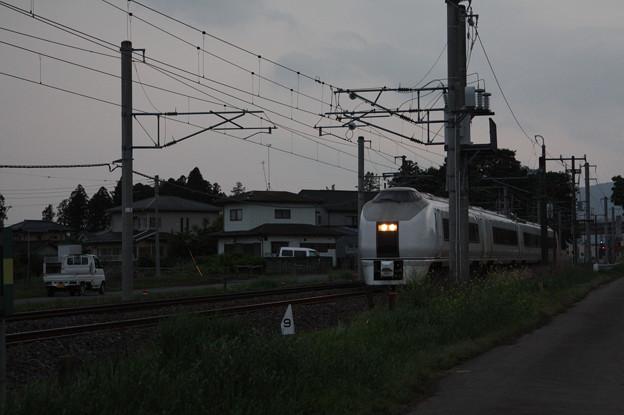 651系K201編成 9723M 臨時快速足利大藤まつり号 いわき 行 (1)