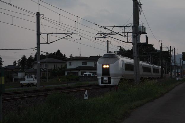 651系K201編成 9723M 臨時快速足利大藤まつり号 いわき 行 (2)