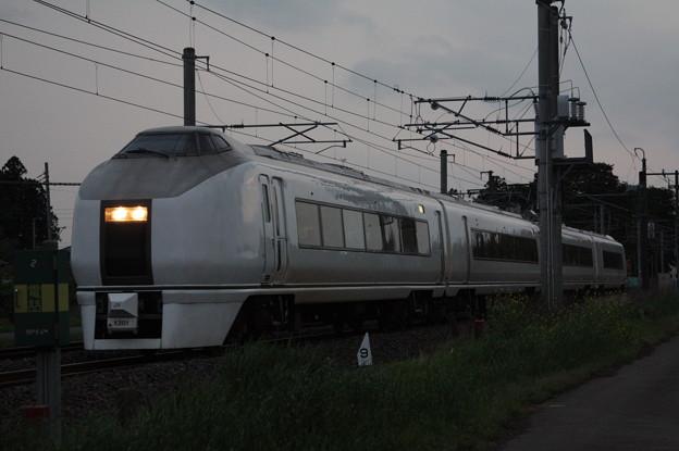 651系K201編成 9723M 臨時快速足利大藤まつり号 いわき 行 (6)
