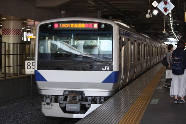 日暮里駅4番線を発車する常磐線E531系K470編成