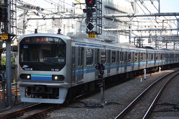 大崎駅6番線に到着するりんかい線70-000形Z10編成 各駅停車 大崎 行 (1)