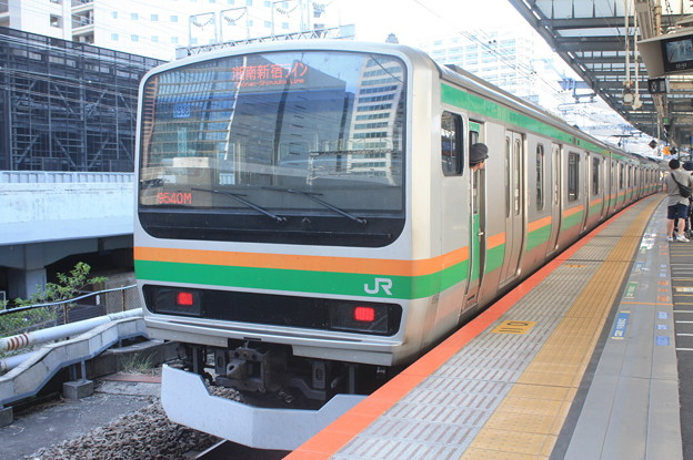 湘南新宿ライン E231系1000番台U536編成 9540M 普通 大崎 行