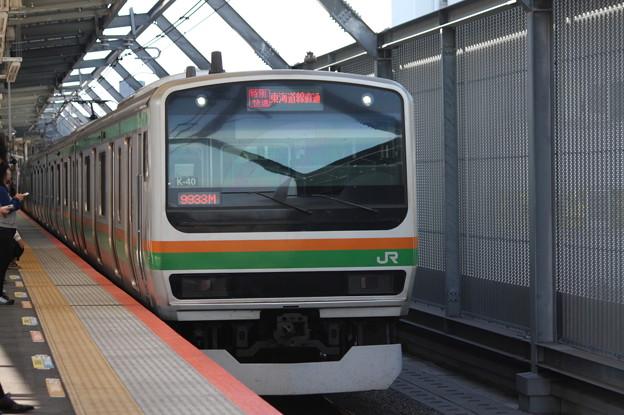 湘南新宿ライン E231系1000番台K-40編成 9933M 特別快速 小田原 行 (1)
