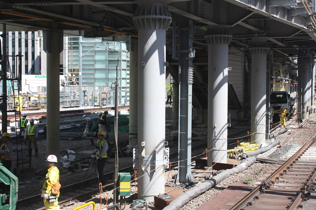 埼京線・湘南新宿ライン渋谷駅線路切替工事の様子 20180603_19