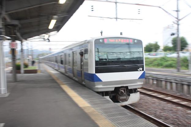 水戸線 E531系K466編成 流し撮り