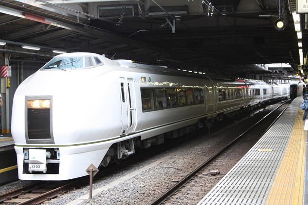 品川駅12番線に停車中の651系K103編成 快速ぶらり横浜・鎌倉号 鎌倉 行 (2)