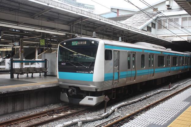 品川駅4番線に停車する京浜東北線E233系1000番台サイ148編成 大船 行 (3)