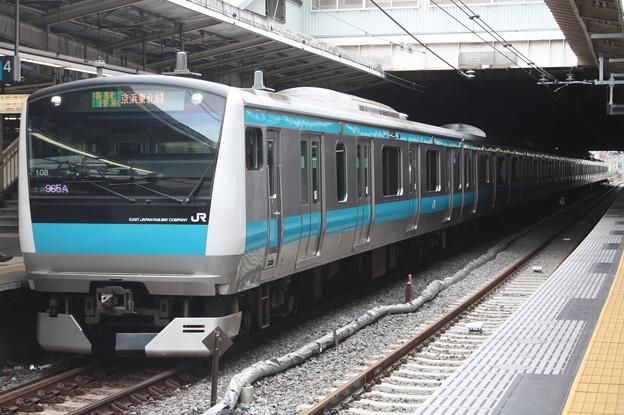 品川駅4番線に停車する京浜東北線E233系1000番台サイ108編成 蒲田 行