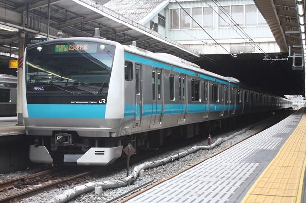 品川駅4番線に停車する京浜東北線E233系1000番台サイ108編成 蒲田 行 (1)