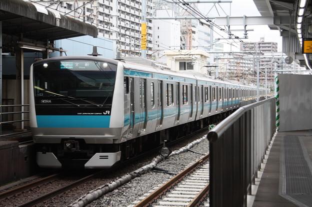 品川駅4番線に到着する京浜東北線E233系1000番台サイ153編成 大船 行