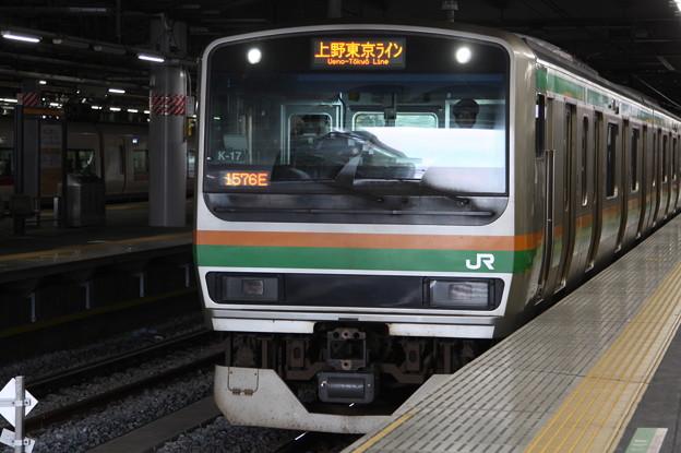 品川駅6番線に到着するE231系1000番台K-17編成