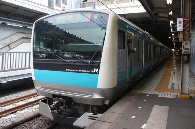 品川駅4番線に停車する京浜東北線E233系1000番台サイ116編成 蒲田 行 (1)