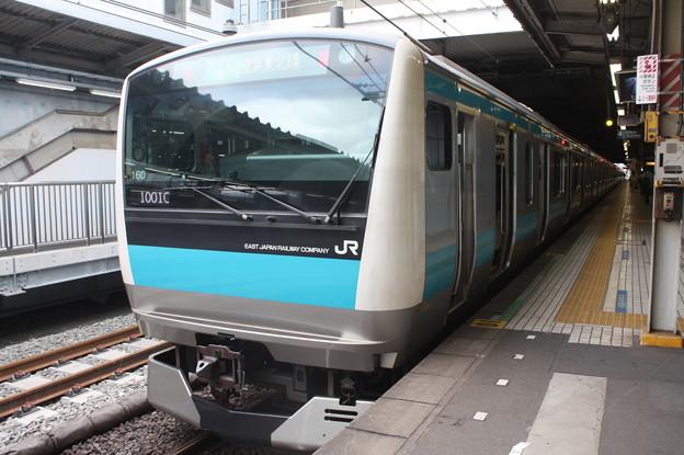 品川駅4番線に停車する京浜東北線E233系1000番台サイ160編成 (1)