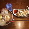 Photos: 味噌屋めん吉 札幌味噌ラーメン チャーシュー・コーン トッピング & 餃子