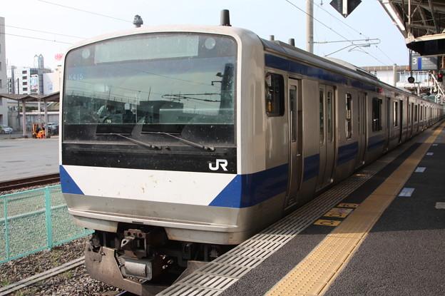 常磐線 E531系K415編成 346M 普通 上野 行