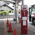 写真: 友部駅北口 笠間ひまつりシャトルバス乗り場