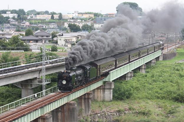 SLレトロ碓氷 D51 498+旧客6B+EF64 1052 安中鉄橋 (10)