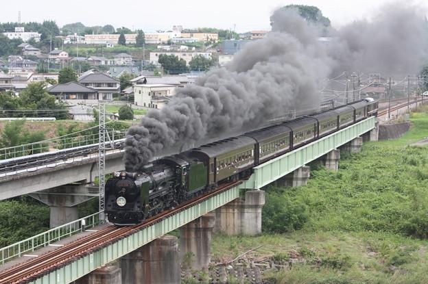 SLレトロ碓氷 D51 498+旧客6B+EF64 1052 安中鉄橋 (11)