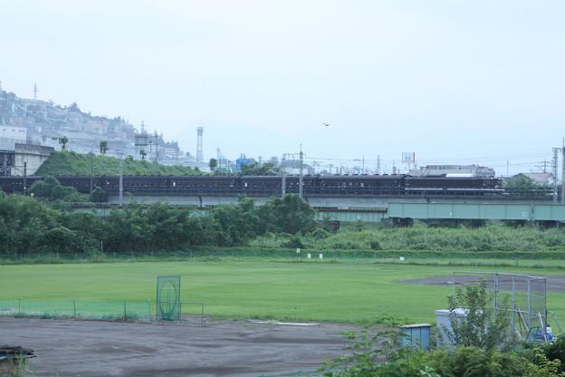 ELレトロ碓氷 EF64 1052+旧客6B+D51 498 安中鉄橋付近 (3)