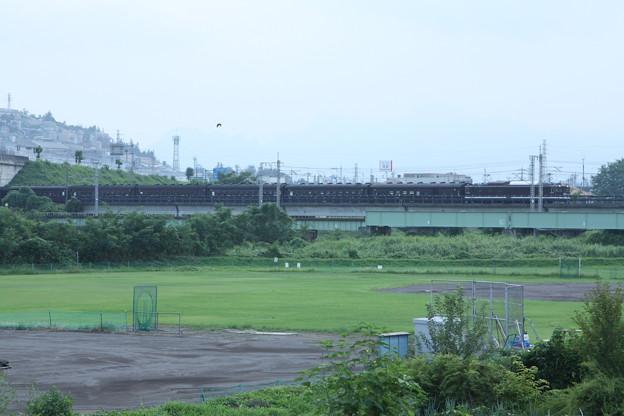 ELレトロ碓氷 EF64 1052+旧客6B+D51 498 安中鉄橋付近 (4)