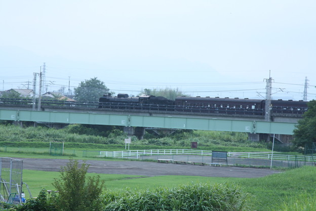 ELレトロ碓氷 EF64 1052+旧客6B+D51 498 安中鉄橋付近 (9)