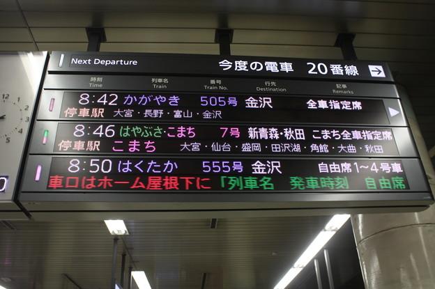 上野駅20番線発車案内表示