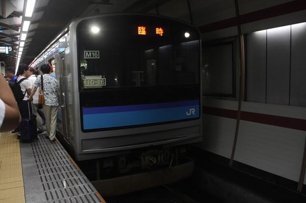 仙石線 205系3100番台M16編成 臨時快速 仙台 行 (1)