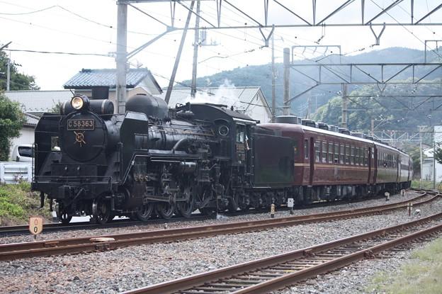 秩父鉄道 パレオエクスプレス 5001レ C58 363+12系客車4B 波久礼付近 (6)