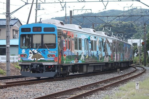 秩父鉄道秩父本線 7500系7502F 秩父ジオパークトレイン 波久礼駅発車 後追い
