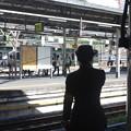上野駅9番線にいる女性駅員