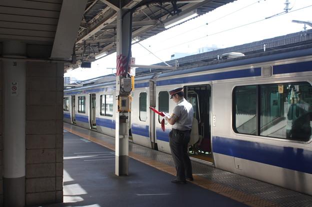 上野駅10番線にいる駅員