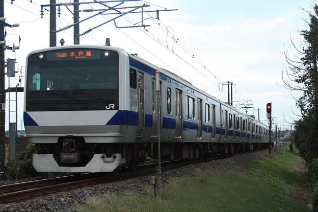 水戸線 E531系K460編成 758M 普通 小山 行 (1)