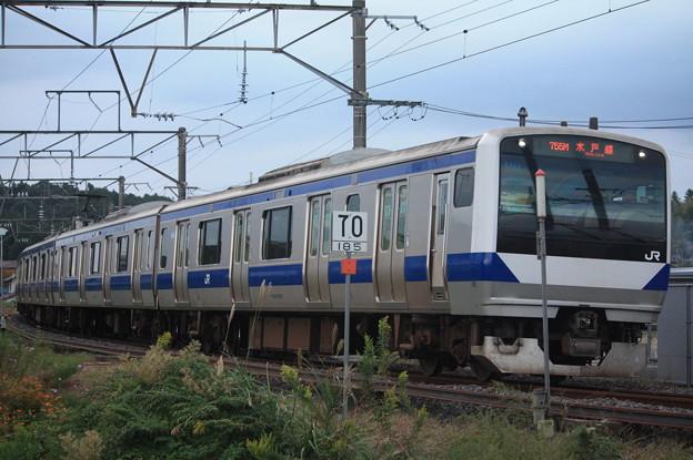 水戸線 E531系K455編成 755M 普通 友部 行 (4)