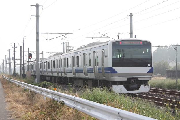 水戸線 E531系3000番台K554編成 729M 普通 勝田 行