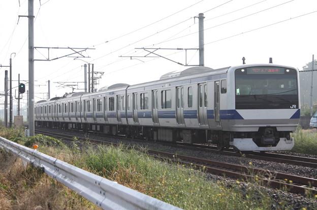 水戸線 E531系3000番台K555編成 736M 普通 小山 行
