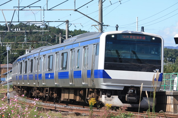 水戸線 E531系3000番台K555編成 741M 普通 勝田 行