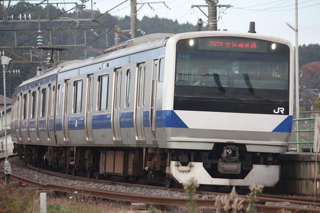 水戸線 E531系K453編成 737M 普通 勝田 行 (3)