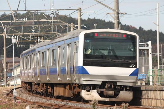 水戸線 E531系K467編成 742M 普通 小山 行 後追い (2)