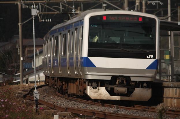 水戸線 E531系K467編成 742M 普通 小山 行 後追い (3)