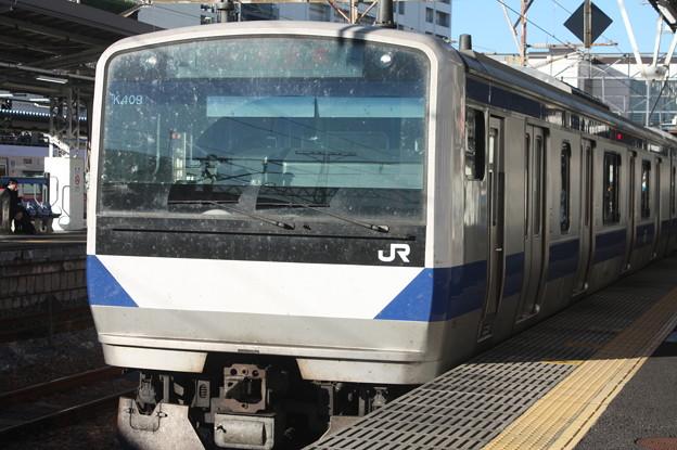 常磐線 E531系K409編成 323M 普通 高萩 行 (1)
