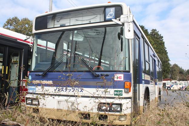 茨城交通鯉渕営業所に留置されている京王バス