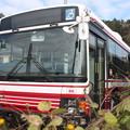 茨城交通鯉渕営業所に留置されている小田急バス
